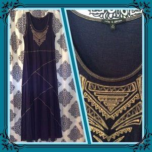 CABLE & GAUGE Black Maxi Dress